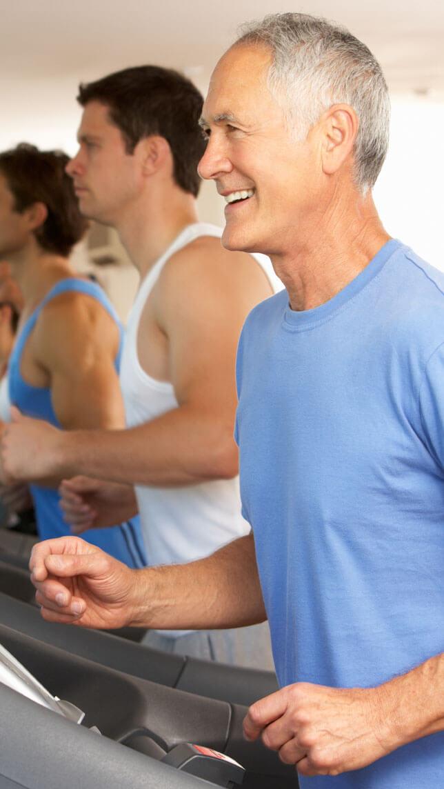 Michigan Pain Clinic Man on Treadmill Free of Pain